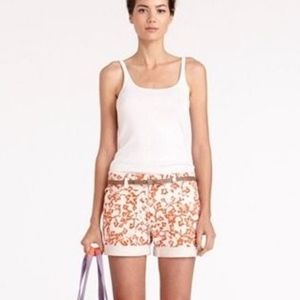DVF ❤️ Current/Elliott Coral Rolled Up Shorts